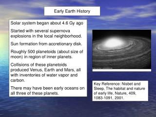 Early Earth History