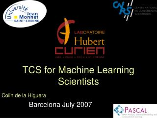 TCS for Machine Learning Scientists