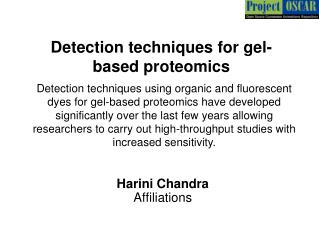 Detection techniques for gel-based proteomics