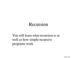 Using recursion in programs