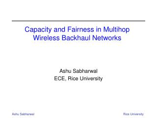 Capacity and Fairness in Multihop Wireless Backhaul Networks