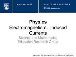 Physics Electromagnetism:  Induced Currents