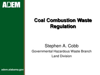 Coal Combustion Waste Regulation