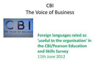 CBI The Voice of Business