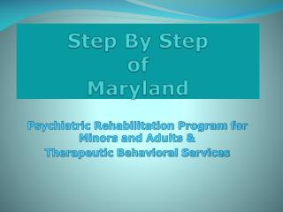 Step By Step of Maryland
