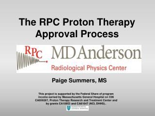 The RPC Proton Therapy Approval Process