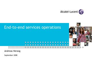 End-to-end services operations