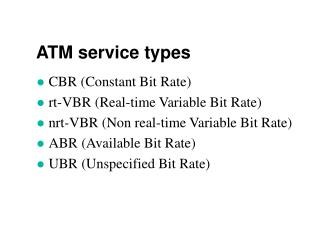 ATM service types