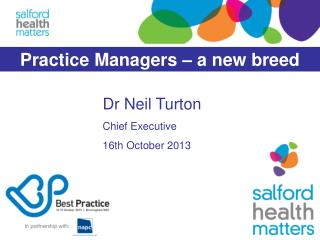 Dr Neil Turton Chief Executive 16th October 2013