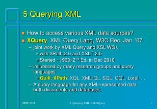 5 Querying XML
