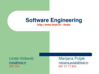 Software Engineering  fesb.hr /~ linda /