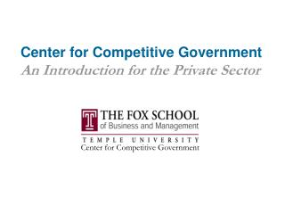 Center for Competitive Government