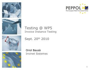 Testing @ WP5 Invoice Instance Testing Sept . 20 th  2010