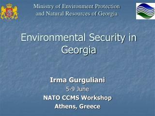 Environmental Security in Georgia