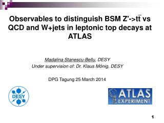Observables to distinguish BSM Z'->tt vs QCD and W+jets in leptonic top decays at ATLAS