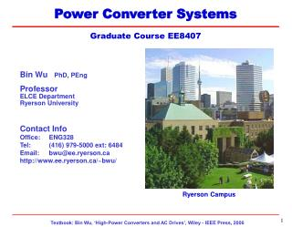 Power Converter Systems  Graduate Course EE8407