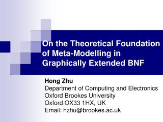 On the Theoretical Foundation of Meta-Modelling in  Graphically Extended BNF