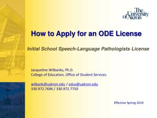 How to Apply for an ODE License