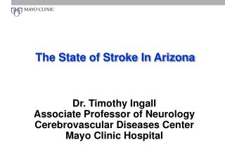 The State of Stroke In Arizona