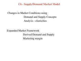 C6 - Supply/Demand Market Model