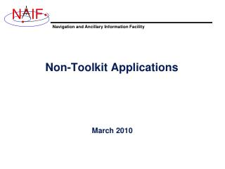 Non-Toolkit Applications