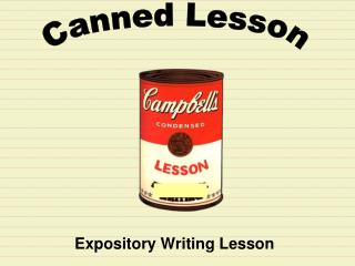 Expository Writing Lesson