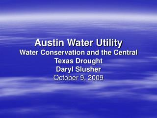 Austin Water Supply