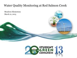 Water Quality Monitoring at Red Salmon Creek