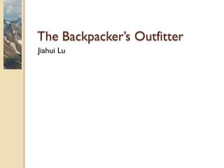 The Backpacker's Outfitter