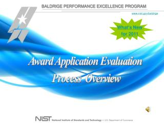 Award Application Evaluation  Process  Overview