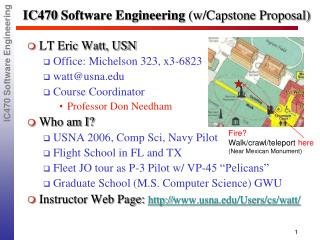 IC470 Software Engineering  (w/Capstone Proposal)