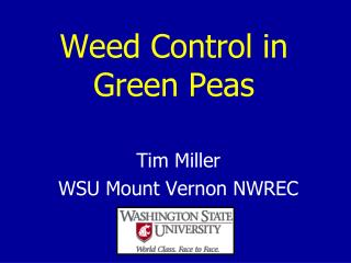 Weed Control in Green Peas