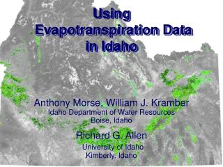 Using  Evapotranspiration Data in Idaho