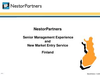 NestorPartners  S enior Management Experience and New Market Entry Service Finland