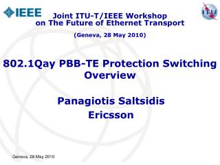 802.1Qay PBB-TE Protection Switching Overview