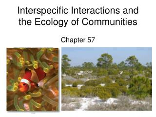 Interspecific Interactions and the Ecology of Communities Chapter 57