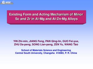 Existing Form and Acting Mechanism of Minor  Sc and Zr in Al-Mg and Al-Zn-Mg Alloys