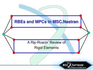 RBEs and MPCs in MSC.Nastran