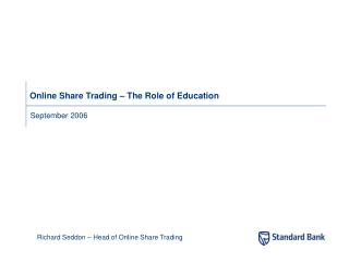Online Share Trading – The Role of Education