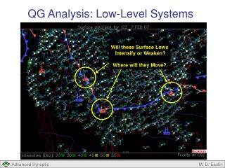 QG Analysis: Low-Level Systems