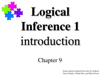 Logical Inference 1 introduction