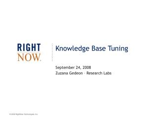 Knowledge Base Tuning