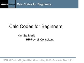 Calc Codes for Beginners