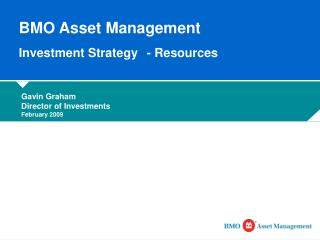 BMO Asset Management  Investment Strategy 	- Resources
