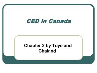 CED in Canada