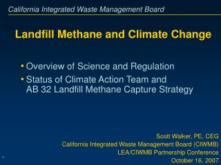 Landfill Methane and Climate Change