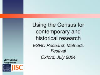 Using the Census for contemporary and historical research