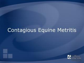 Contagious Equine Metritis
