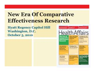 New Era Of Comparative Effectiveness Research