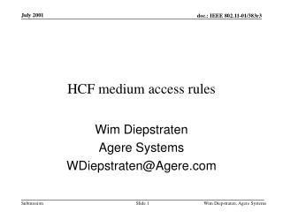 HCF medium access rules
